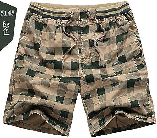 OME&QIUMEI courtes Hommes'S été plage Pantalon De Sport en Coton Pantalon Pantalon Lache Occasionnel