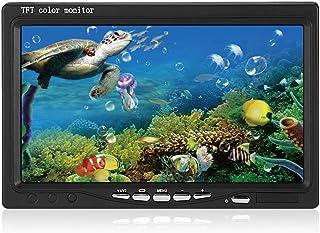 AquRa 1000TVL - Juego de cámara de Pesca submarina Fish Finder con Pantalla de 7,0 Pulgadas, 15 LED Blanco y Monitor de vídeo 2 en 1