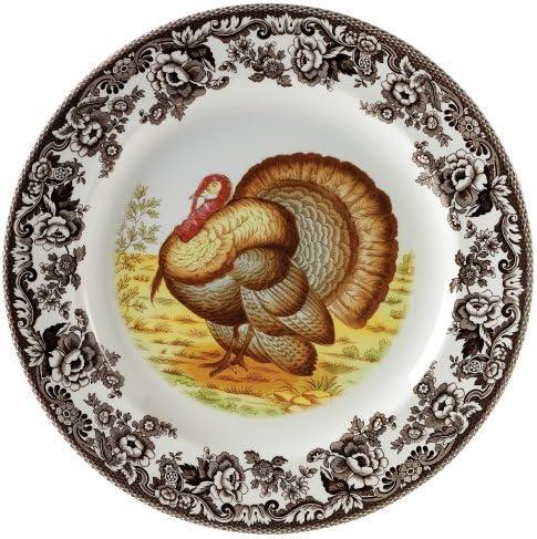 激安特価品 Spode Woodland Turkey 売り出し Plate Service