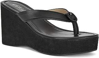 Ceriz Women's Lea Black Sandals