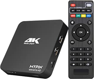4K Ultra-HD Digital Media Player HDMI/AV Out PPT MKV AVI for HDTV with Remote Control Support USB Drives and SD Cards