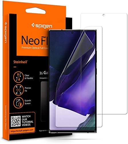 Spigen 2 Pack Samsung Galaxy Note 20 Ultra Screen Protector NeoFlex TPU Full Coverage Case Friendly Not Tempered Glass Wet Application Screen Guard for Samsung Galaxy Note 20 Ultra