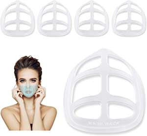 3D Mask Bracket - Face Mask Inner Support Frame - Cool Silicone Bracket-Protect Lipstick-Nose Breathing smoothly(5 PCS, Pure white)