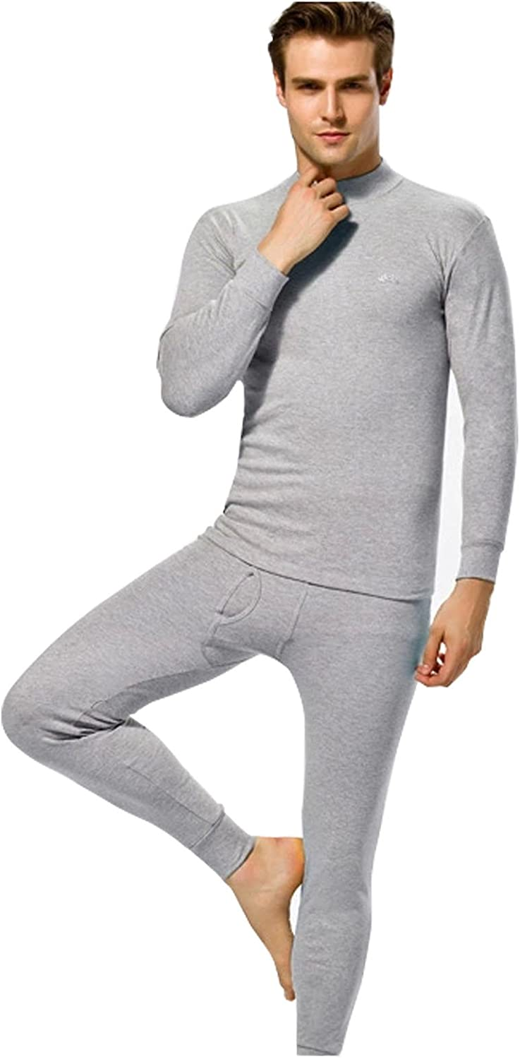 Fashion Men's Suits with Thin Thermal Underwear Models in High-necked Design