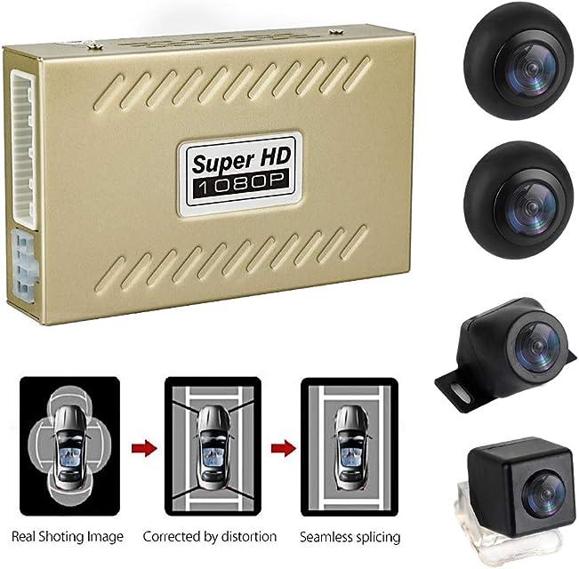 MiCarBa Sistema de estacionamiento panorámico Universal de 360 Grados cámara de Coche para visión Nocturna con luz de Estrella Impermeable cámara inversa 2D