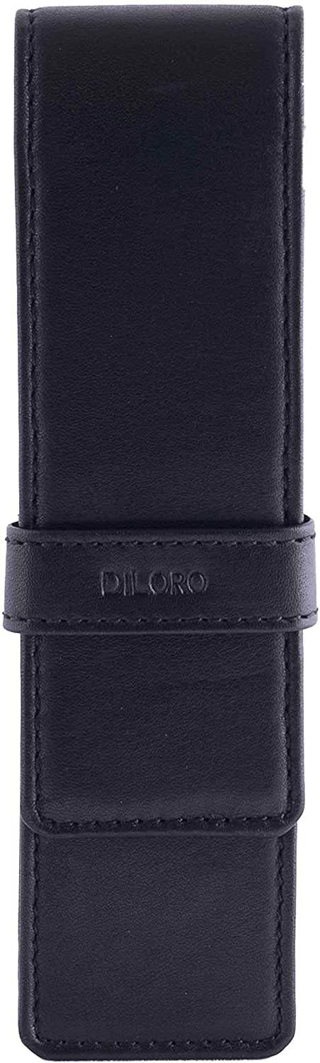 DiLoro Leather Double Pen Case Pencil Pouch Max 74% OFF Two Fount for half Holder
