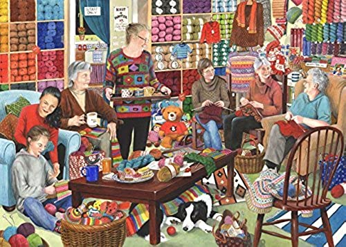 1000 Piece Jigsaw Puzzle - Knit & Natter by The House of Puzzles
