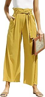 BerryGo Women's Casual High Waist Wide Leg Cropped Pants...
