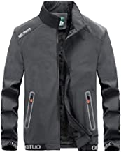 Easytoy Men's Winter Sport Casual Solid Turn-Down Collar Zipper Long Sleeve Faux Fur Lined Jacket Coat