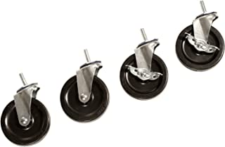 Seville Classics SHE24003 Steel Wire Shelving System Casters, 4