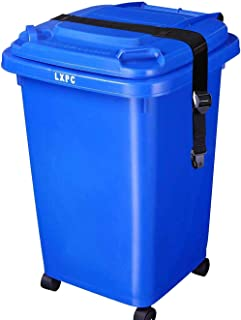XJunion Trash Can Lid Strap Bin Strap Garbage Lock Garbage Can Security System One Piece - No More Mess