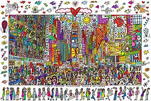 DIY 500 Puzzle Rompecabezas Madera Para Adultos Juguete Educativo Woody Times Square Regalo Único Estilo De Decoración Del Hogar -38x52cm