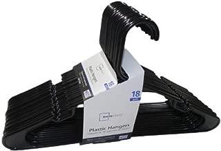 Mainstay 18-Pack Standard Plastic Hangers (Black, 1 Pack)