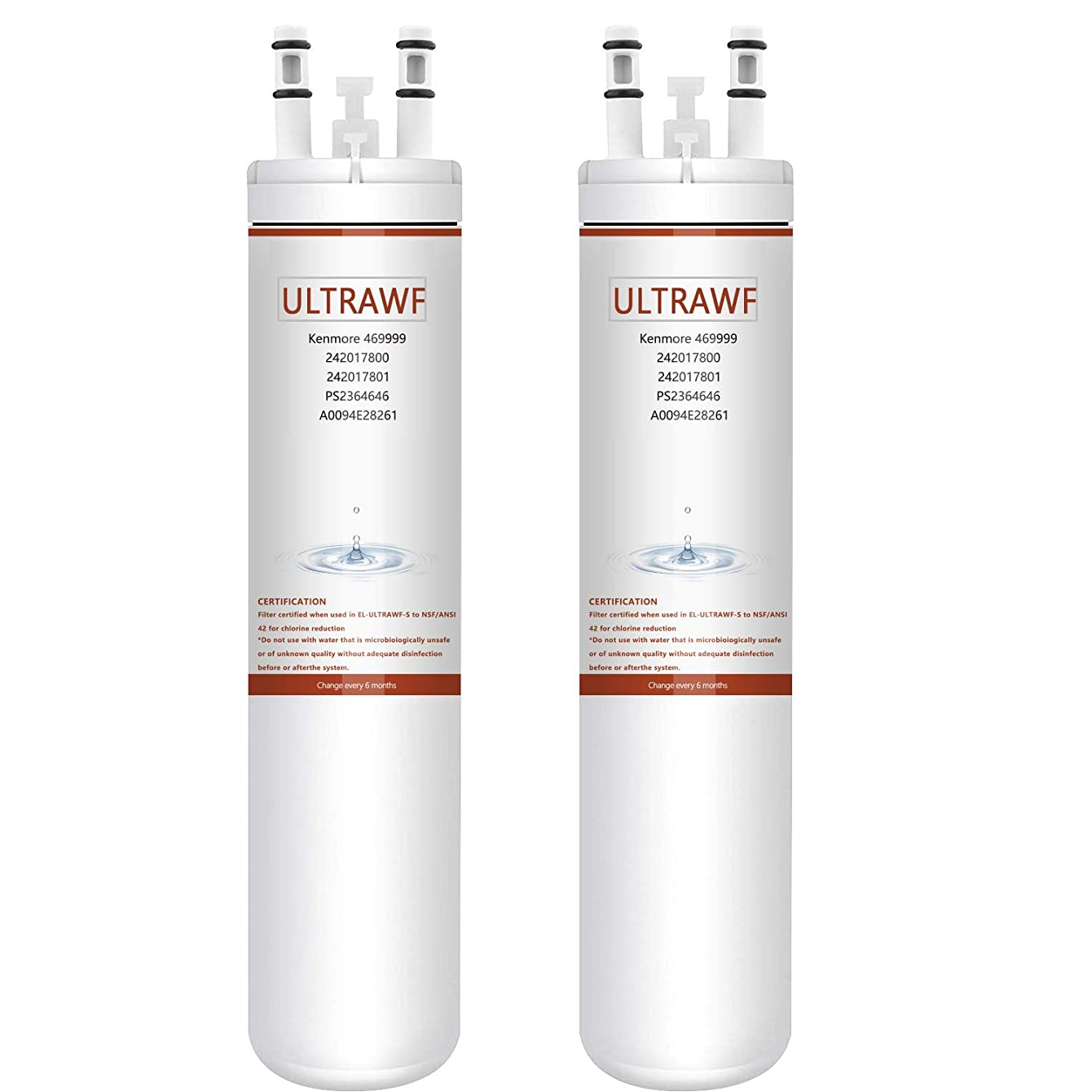 9999 Compatible with,Refrigerator Water Filter (2 Pack)