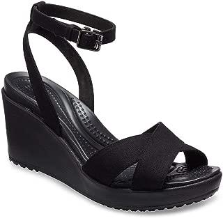 Crocs Women's Leigh II Cross Strap Ankle Wedge