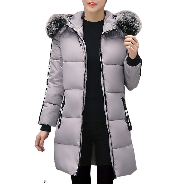 [美しいです] レディース 綿入りコート 厚手 フード付き ロング コート 防寒 防風 カジュアル 保温性 冬