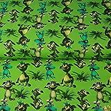 Stoffe-Monster Stenzo Jersey Drachen grün 0,50m x VB
