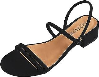 UULIKE Femme Sandales Talon Compensées Été,Confortable Simplicité Mode Bout Ouvert Été Mode Loisirs Sandale à Talon de Pla...