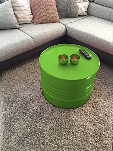 Fassmöbel Beistelltisch Ölfass Tisch Fass Design Möbel Couchtisch Grün Ø 57cm