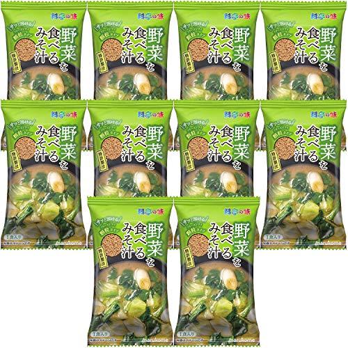 マルコメ フリーズドライ顆粒 野菜を食べるみそ汁 1食 ×10個