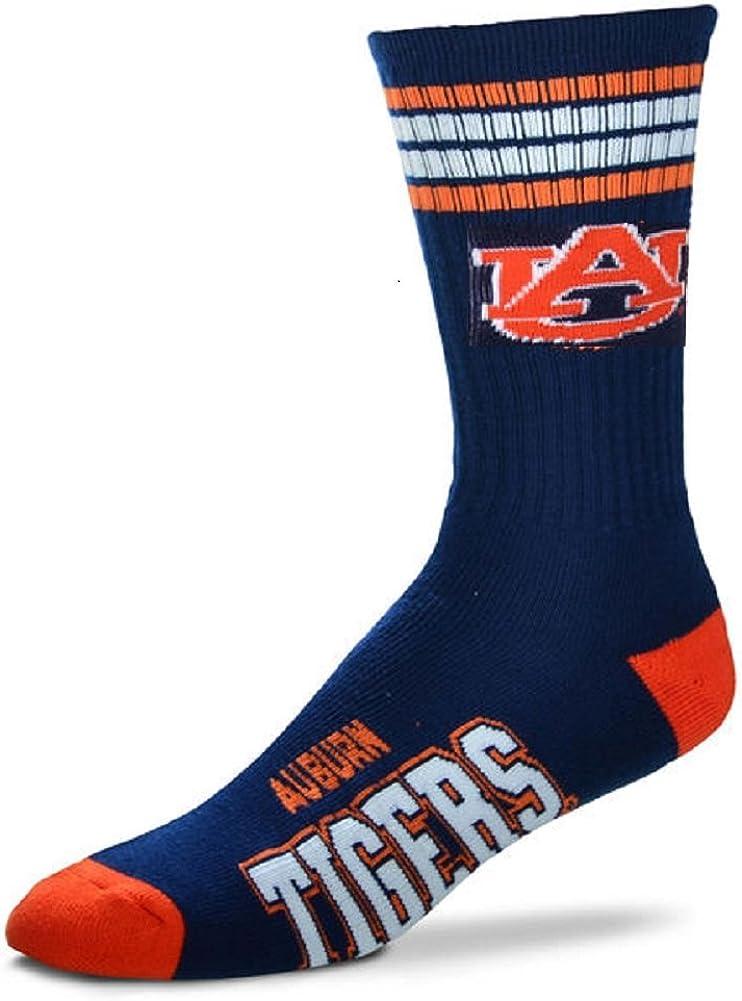 For Bare Feet Mens NCAA 4 Regular discount Tigers Deuce Stripe Crew Socks Wholesale Auburn