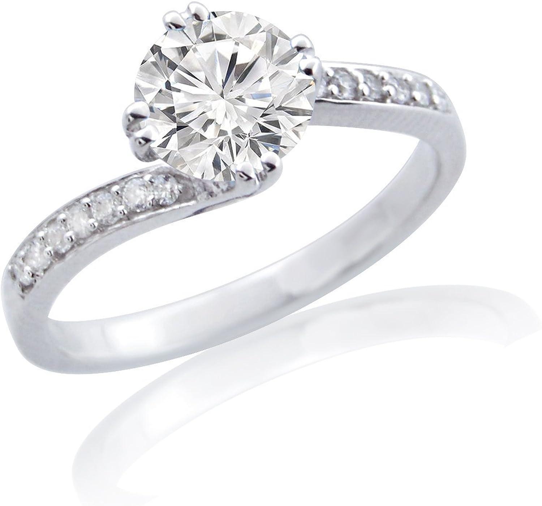 SILVER SEA EMPIRE 1.35 Ct D Diamond Silver Sterling VVS1 So .925 New mail order Ranking TOP7
