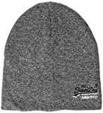 Superdry Herren ORANGE Label Beanie Strickmütze, Grau (Basalt Grey Grit Q6s), OS