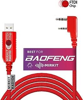 Mirkit FTDI USB Programming Cable Model 3 Red for Flashing Analogue Ham Radio: Baofeng, Mirkit, Wouxun, Kenwood, Archell, Retevis