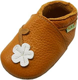 Sayoyo Baby Cute Plum Flower Soft Sole Leather Baby Shoes Baby Moccasins