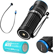 Olight S1R II Baton Generation II 1000 Lumen Compact Rechargeable LED Flashlight with one customized RCR123A, Magnetic Charging Cable (MCC II) and LegionArms Sticker