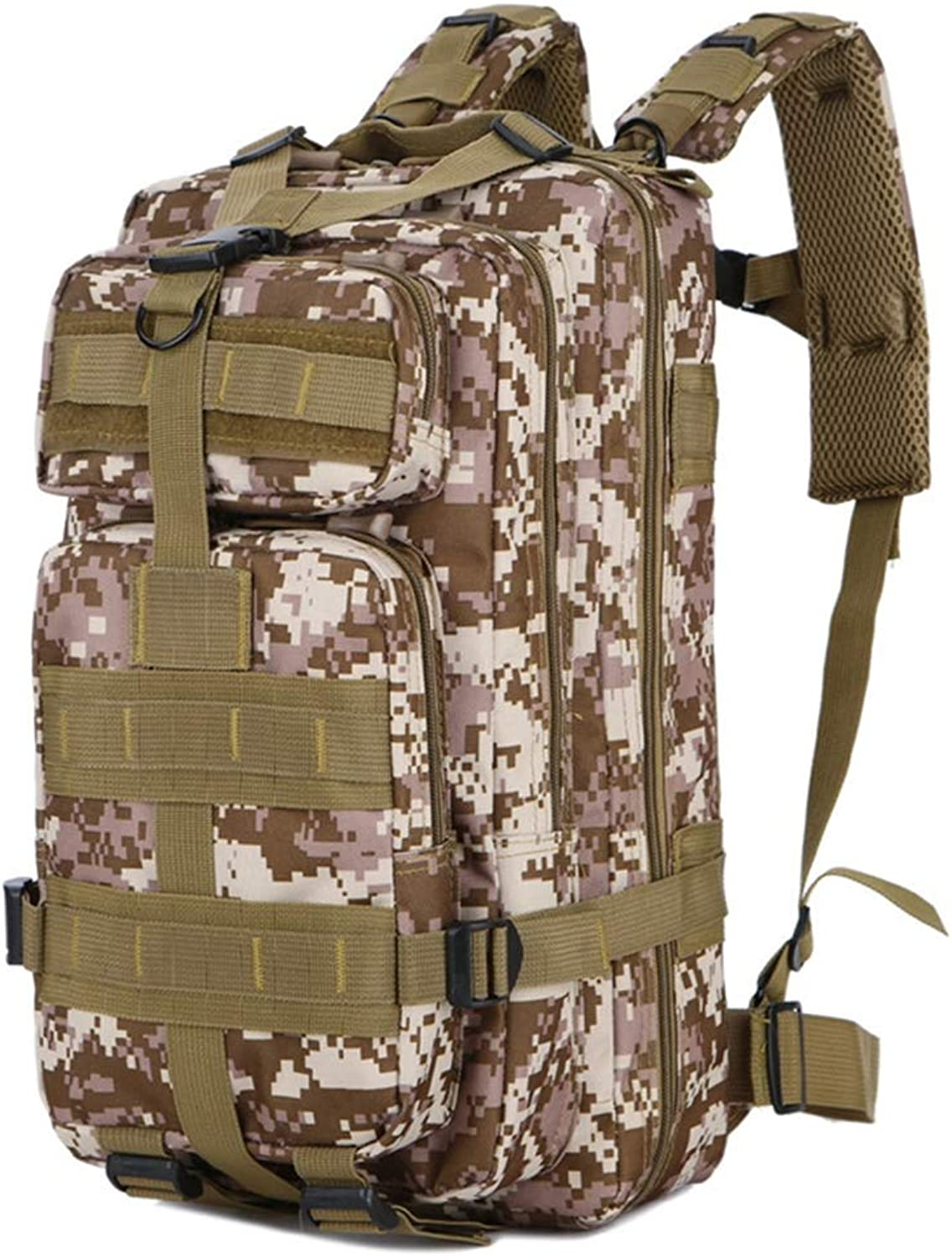 Camouflage Outdoor Sports Backpack, Camouflage Mountaineering Bag Hiking Backpack Tactical Bag 30L Oxford Cloth Waterproof Camouflage Backpack