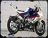 Red Rat BMW S 1000Rr Superbike 10 1 A4 Stampa Fotografica Moto Vintage Invecchiato