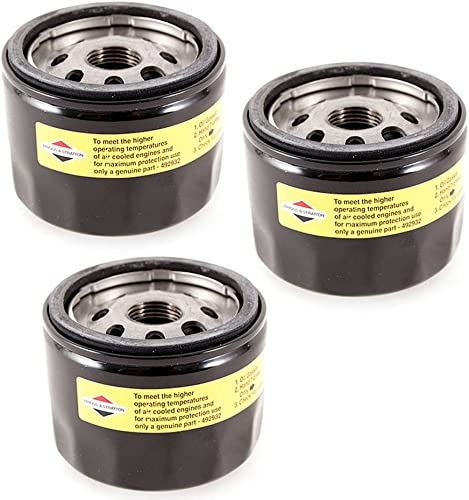 new arrival Briggs & Stratton outlet sale Genuine OEM 492932 492932S Oil Filter lowest (3 Pack) sale