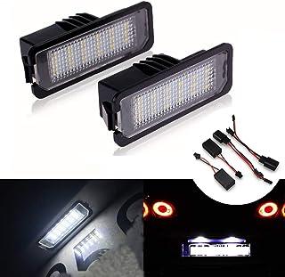 MOLEAQI 2x18SMD LED de matrícula Libre de Errores Lámparas de luz para V-W G-olf MK4 MK5 MK6 P-assat P-olo CC EOS S-cirocc...