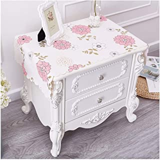 GFF Tableclothkitchen Linen PVC Waterproof Bedside Table TV Cabinet (Color : B, Size : 40 70cm)