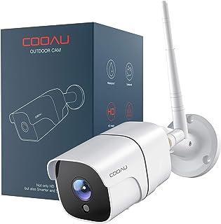 COOAU Cámara de Vigilancia Exterior/Interior con Versión Nocturna, Cámara de Seguridad Wi-Fi 1080P, Soporta Alexa, Audio B...