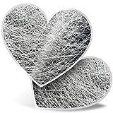 Impresionante pegatinas de corazón de 7,5 cm – Impresionante fibra de vidrio con efecto divertido calcomanías para portátiles, tabletas, equipaje, libros de chatarras, neveras, regalo genial #3272