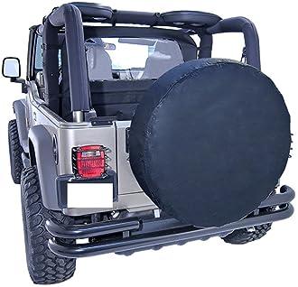 "CAREMO Waterproof Vinyl RV Wheel & Tire Cover, Fits 30 to 33"" Tire Diameters, Weatherproof Tire Protectors"