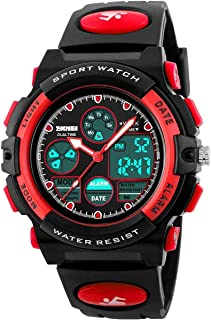 Touber Kids Digital Sport Watch, 50M Waterproof LED Wrist Watches with Alarm Stopwatch - Best Gifts