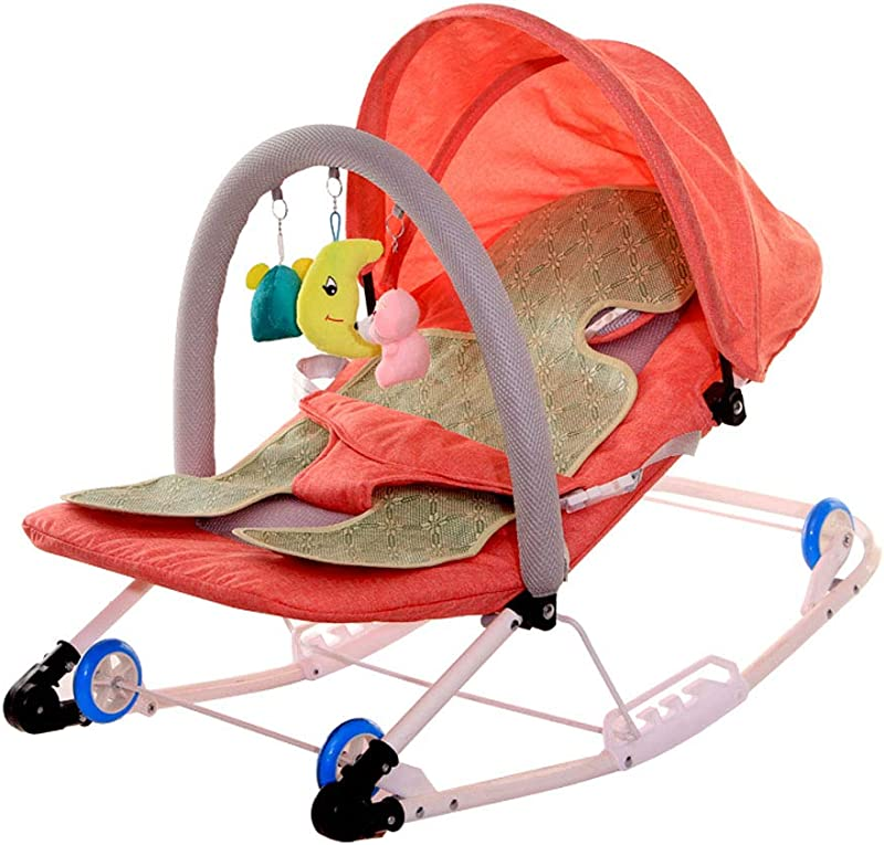 Baby Rocking Chair Recliner Baby Sleeping Can Push The Baby Supplies Cradle Bed Orange Rockingchair