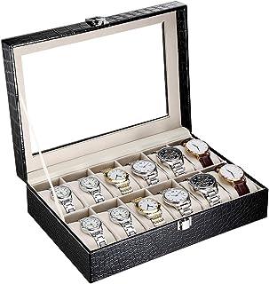 CRITIRON 12 Slot Caja para Relojes con Cerradura, Caja