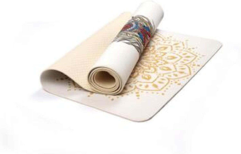 Yoga Mat 6mm Pattern Environmental Tasteless Non-Slip Fitness Men and Women Fitness Yoga Blanket Sports Mat