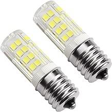 Kakanuo E17 LED Bulb Microwave Oven Light 4 Watt Daylight White 6000K Non-dimmable 52x2835SMD AC110-130V (Pack of 2)