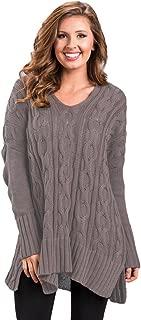 Newbestyle Women's Loose Oversize Chunky Knit Jumper Pullover Asymmetric Hem Sweater Top S-2XL