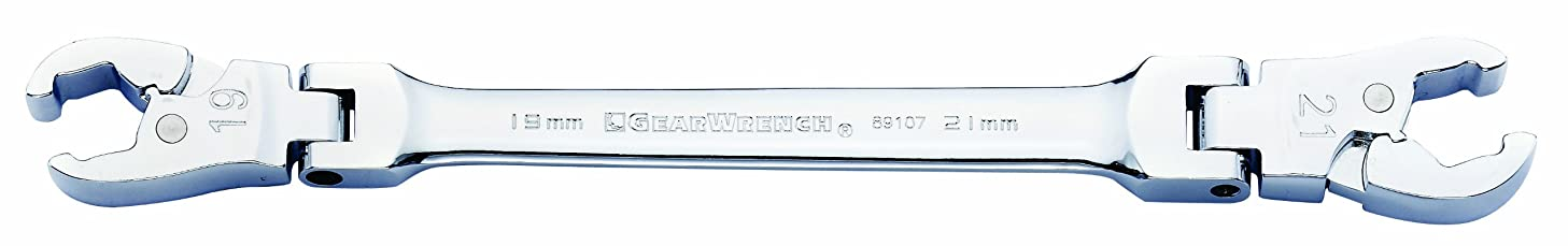 GEARWRENCH 89107 19 by 21mm Ratcheting Flex Flare Nut Wrench