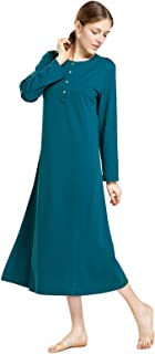 Image of Full Length Long Cotton Nightgown for Women - More Colors Available