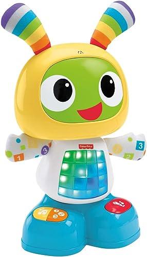Fisher-Price Bebo le Robot Interactif Jouet d'Éveil avec 3 Modes de Jeu, Musique et Danse, Apprentissage, Enregistrem...
