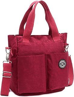 EasyHui Womens Nylon Crossbody Shoulder Bag Messenger Bag Handbags Waterproof Tote Bag Large Travel Mommy Bag