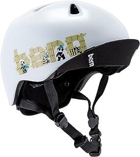 [ バーン ] Bern ヘルメット 子供用 ニーノ Nino オールシーズン キッズ ジュニア 男の子 自転車 スノーボード スキー スケートボード BMX サテンホワイトパンダロゴ VJBSWPV [並行輸入品]
