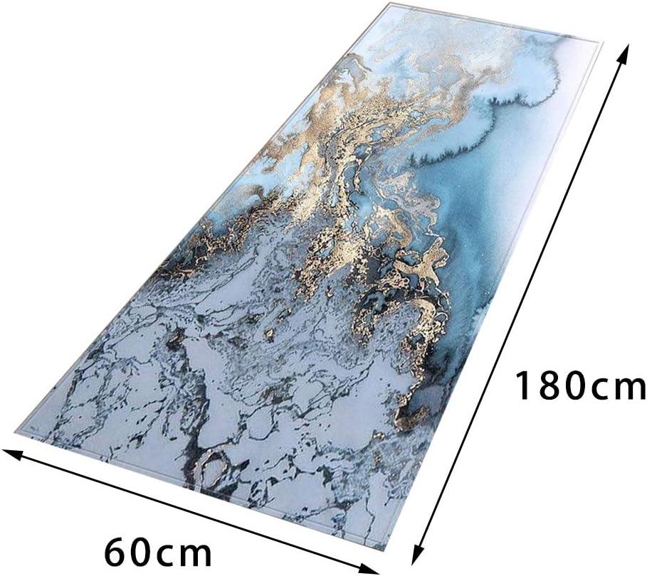 Fenteer Antideslizante Corredor de Pasillo patr/ón de m/ármol Alfombra de /área Suave Alfombra para habitaci/ón de ni/ños A/_40x120cm